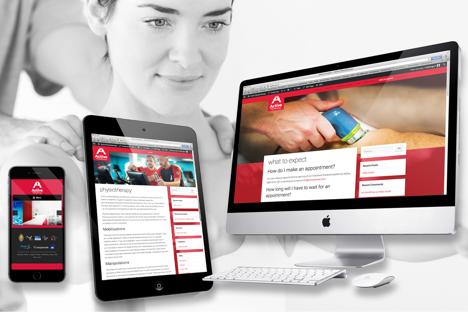 active physio website design
